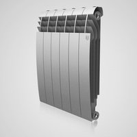 Радиатор Biliner 500 Silver Satin / Noir Sable - 6 секц.