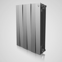 Радиатор PianoForte 500 Silver Satin / Noir Sable - 4 секц.
